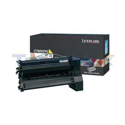 LEXMARK C782 X782 TONER CARTRIDGE YELLOW 15K
